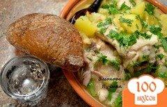 Фото рецепта: «Тушёная картошка с курицей»