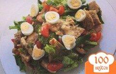 Фото рецепта: «Салат с перепелинными яйцами и курицей»