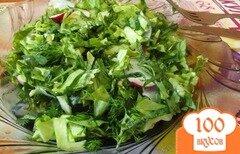 Фото рецепта: «Мятный салат с крапивой»