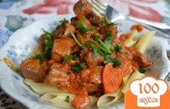 Фото рецепта: «Мясной ужин с пастой и Болоньезе соус»
