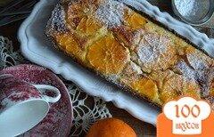Фото рецепта: «Творожный пирог с апельсинами»