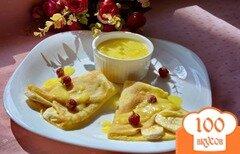 Фото рецепта: «Тропические блинчики с фруктами и лимонным курдом»