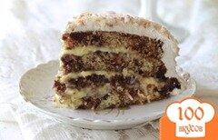 Фото рецепта: «Шоколадно-кокосовый торт»