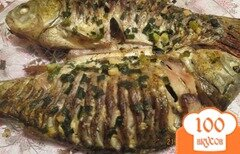 Фото рецепта: «Запеченная рыба в духовку»