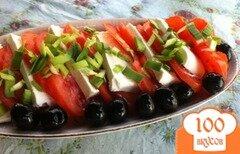 Фото рецепта: «Закуска из помидор и сыром Феты»
