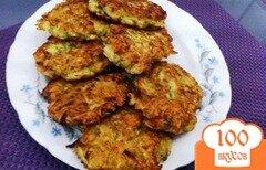 Фото рецепта: «Оладьи из кабачка с морковью»