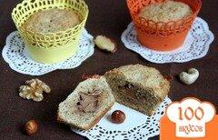 Фото рецепта: «Ореховые маффины с нугой»