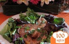 Фото рецепта: «Свинина, запечённая в луково-соевом соусе»