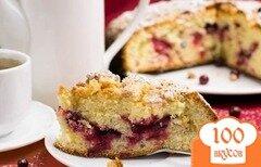 Фото рецепта: «Пирог с клюквой в мультиварке»