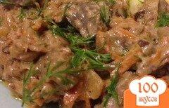 Фото рецепта: «Печень в чесночно-сливочном соусе»