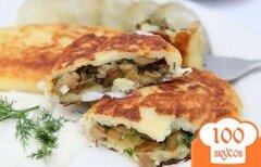 Фото рецепта: «Пирожки с грибами жареные»