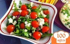 Фото рецепта: «Овощной салат с голубым сыром»