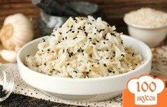 Фото рецепта: «Рис с кунжутом и чесноком»
