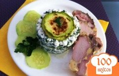 Фото рецепта: «Салат из кабачков и творога»
