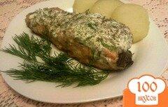 Фото рецепта: «Семга под пряным сметанным соусом»