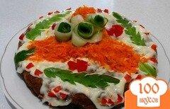 Фото рецепта: «Печеночный торт в мультиварке»