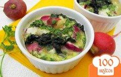 Фото рецепта: «Омлет в духовке с редисом и крапивой»