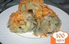 Фото рецепта: «Минтай с луком и морковью»