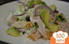Фото рецепта: «Куриный салат с авокадо»