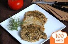 Фото рецепта: «Свинина с зеленью, тушеная в пикантном соусе»