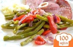 Фото рецепта: «Зеленая фасоль с красным перцем»