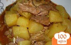 Фото рецепта: «Азу с картошкой в мультиварке»