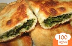 Фото рецепта: «Чебуреки с зеленью»