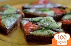 Фото рецепта: «Сэндвич мозаика к чаю»