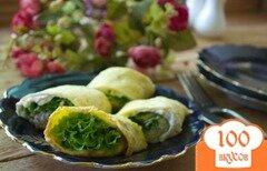 Фото рецепта: «Рулет с салатом и курицей»