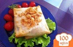 Фото рецепта: «Конвертики из теста Фило с рыбой и шпинатом»