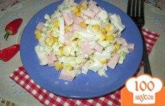 Фото рецепта: «Салат из пекинской капусты с кукурузой»