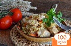 Фото рецепта: «Плов из куриного мяса с тремя видами круп»