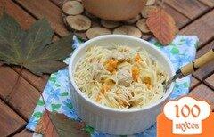 Фото рецепта: «Лапша с индейкой в тыквенно-сливочном соусе»