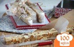 Фото рецепта: «Мягкая нуга с орехами и курагой (Torrone morbido)»