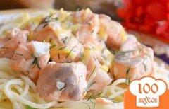 Фото рецепта: «Семга в чесночном соусе»