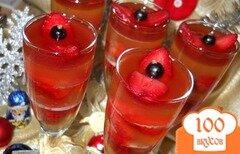 Фото рецепта: «Желе из шампанского с клубникой»