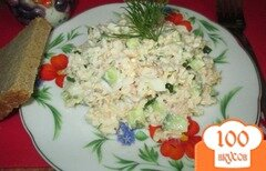 Фото рецепта: «Салат с рисом и тунцом»
