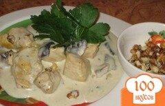 Фото рецепта: «Курица в грибном соусе»