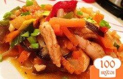 Фото рецепта: «Куриное филе в кисло-сладком соусе с овощами»