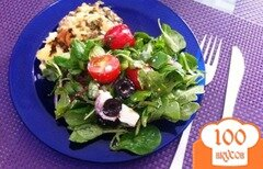 Фото рецепта: «Салатный MIX с сыром фета и оливками»