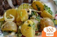 Фото рецепта: «Салат картофельный с корнишонами»