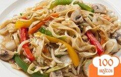 Фото рецепта: «Лапша с гарниром из шампиньонов и овощей»