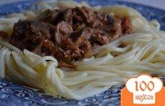 Фото рецепта: «Соус к пасте из грибов с тунцом»