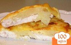Фото рецепта: «Куриное филе, запеченное с картофелем»