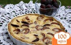 Фото рецепта: «Тарт со сливами и грушей»