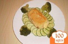 """Фото рецепта: «Картофельные """"зразы"""" с сыром и овощами»"""