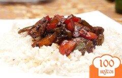 Фото рецепта: «Мясо в кисло-сладком соусе»