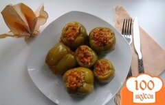Фото рецепта: «Перец, фаршированный рисом, мясом и овощами»