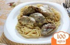 Фото рецепта: «Филе индейки в сливочном соусе»