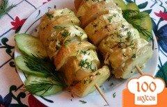 Фото рецепта: «Овощи запеченный в фольге на шпажке»